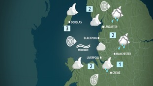 Friday night's weather map for the NW