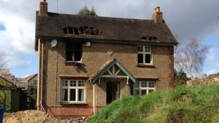 Fire-damaged house in Maidenhead where a fireman was injured