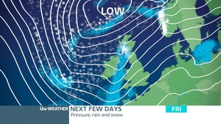 Low Pressure dominating, bringing showers and gusty wind