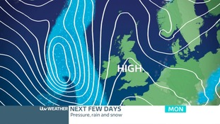 Pressure builds from Sunday night settling the weather down