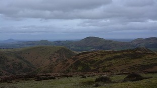 Cloud building over the Shropshire Hills