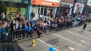 Crowds line the route in Sevenoaks to greet Lizzy Yarnold