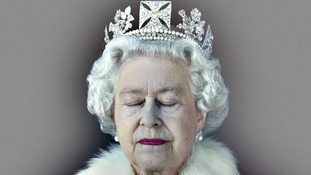 Lightness of Being: Queen Elizabeth II with her eyes closed