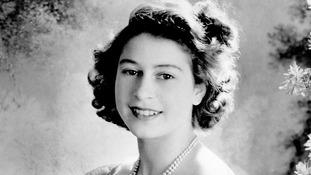 A Cecil Beaton photograph of Princess Elizabeth at Buckingham Palace