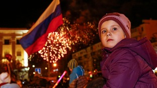 Vladimir Putin orders fireworks as Crimea goes East