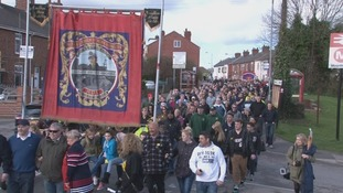 Hundreds parade through South Kirkby and South Elmsall
