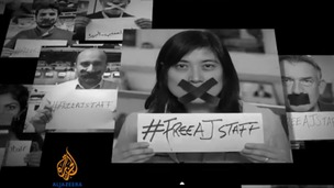 The hashtag #FreeAJStaff has been shared over 786 million times.