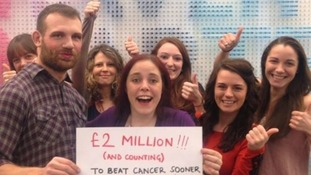 Cancer Research UK are delighted about the donations