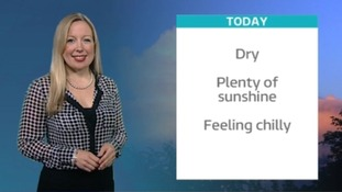 Weather promo shot of Philippa Drew