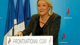Marine Le Pen, France's far-right National Front political party leader.