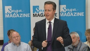 Prime Minister David Cameron addresses a PM Direct event in Brighton.