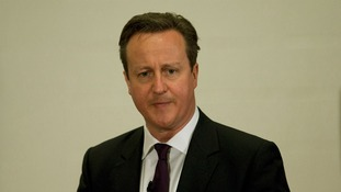 Prime Minister David Cameron speaking at a PM Direct event earlier.