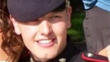 Fusilier James Wilkinson in uniform and smiling