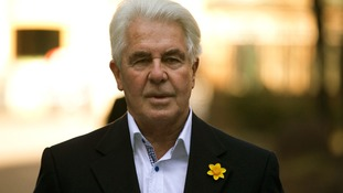 Max Clifford pictured arriving at Southwark Crown Court in London this morning.