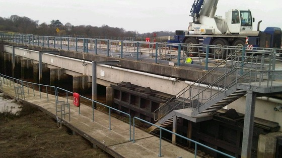 Colne Barrier repairs