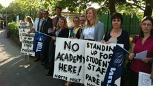 NUT teachers at Kimberley School go on strike