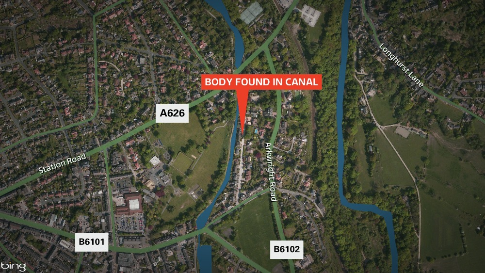 body found in a canal in stockport granada itv news. Black Bedroom Furniture Sets. Home Design Ideas