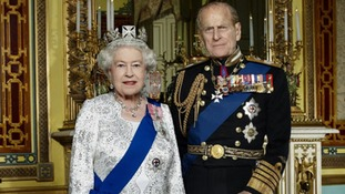 The official Diamond Jubilee portrait of HM Queen Elizabeth II and HRH The Duke of Edinburgh