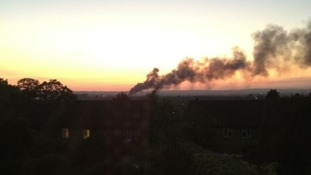 Trading estate fire