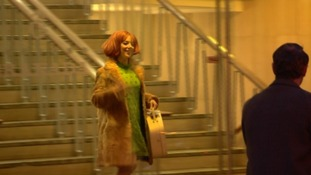 Sheridan Smith in costume on set in Liverpool