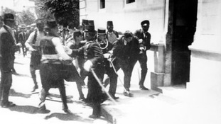 The assassination of Archduke Franz Ferdinand in 1914