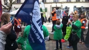 Teachers strike march in Portsmouth