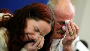 Mick Philpott and wife Mairead speak at a press conference on May 16