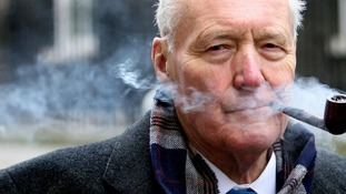Tony Benn makes final journey from parliament