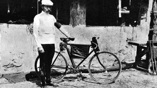 Maurice Garin, the winner of the first Tour de France