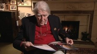 "Captain Raymond ""Jerry"" Roberts talking to ITV News Anglia in 2012."
