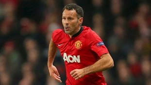 Ryan Giggs in his Manchester United kit on the pitch