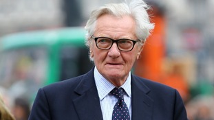 Lord Heseltine was among the mourners.