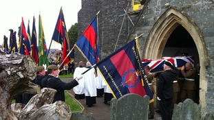 The funeral of Lance Corporal Lee Davies