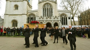 Politicians unite for fond farewell to towering Tony Benn