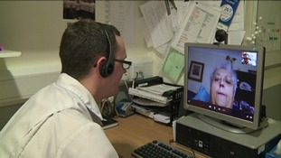 Medic conducting Skype call with patient