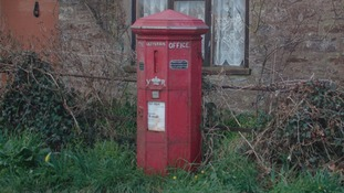 England's oldest postbox in a dilapidated state