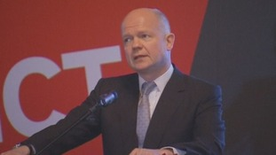 Foreign Secretary William Hague addresses the conference in Bosnia's Sarajevo.