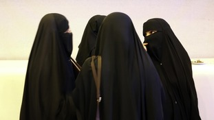 Women in Saudi Arabia talking together