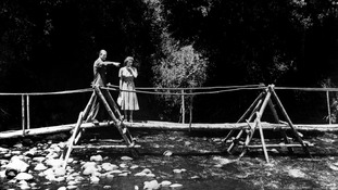 Princess Elizabeth and the Duke of Edinburgh in the grounds of the Royal Lodge, Sagana, their wedding present from the people of Kenya