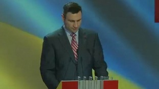 Vitali Klitschko announces he will not stand for Ukraine president.