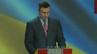 Vitali Klitschko announces he will not stand for Ukraine president.