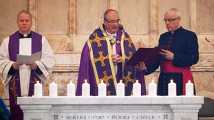 Archbishop Philip Tartaglia led the memorial service at t St Andrew's Cathedral in Glasgow.