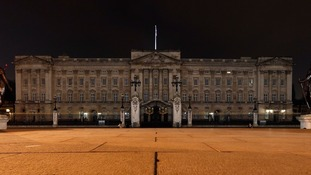 Buckingham Palace during Earth Hour