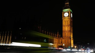 Big Ben before Earth Hour
