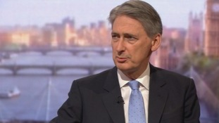 Defence Secretary Philip Hammond on The Andrew Marr Show.