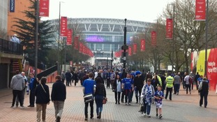Posh fans at Wembley