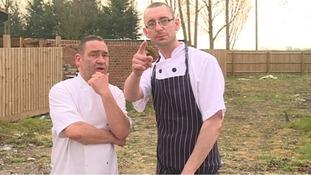 Chefs see plane crash.