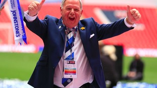 Barry Fry celebrates Peterborough's win
