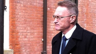 Sean Frayne arriving at court this morning