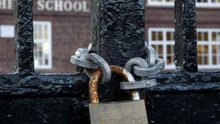 School gates locked